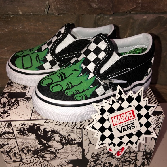 discount up to 60% big discount no sale tax New Marvel Hulk VANS Shoes Toddler 4 NWT